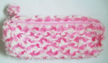 Pink Fluffy Pencil Case School Home Office
